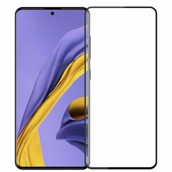 Защитное стекло Full Glue Samsung A71 black