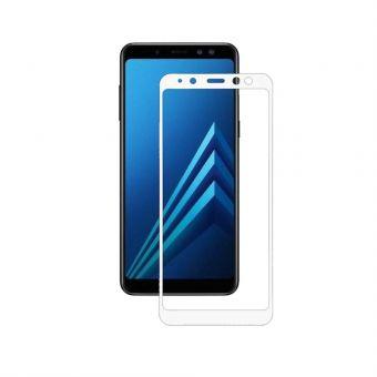Защитное стекло Samsung A8+ white