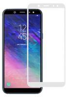 Защитное стекло Full Glue Samsung A6+ A605 white
