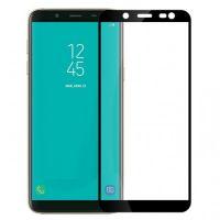 Защитное стекло Full Glue Samsung J8 2018 black
