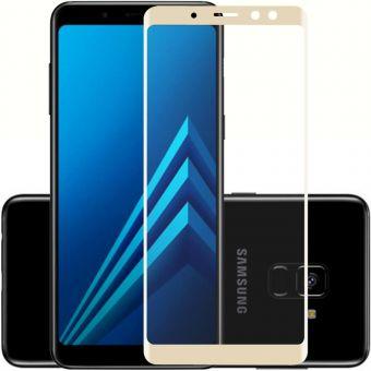 Защитное стекло Samsung A8 gold