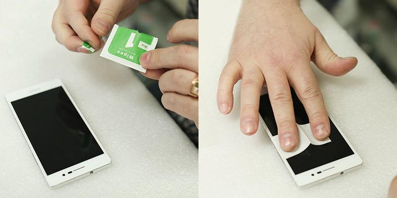 установка стекла на Xiaomi
